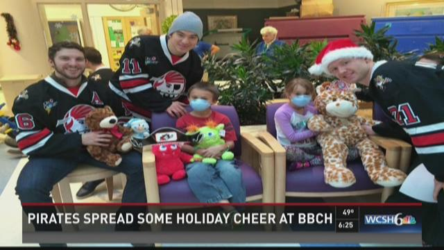 Pirates spread holiday cheer.