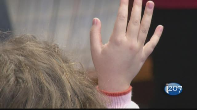 Second graders in the Portland school system are learning how to welcome new students from away with help from the I'm Your Neighbor project.