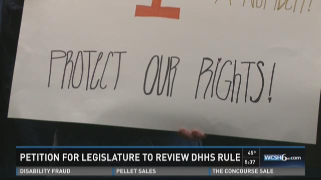 Petitioning against DHHS rule changes