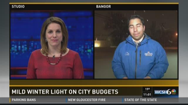 Mild winter light on city budgets