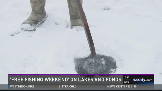 Be careful of conditions during statewide free ice fishing weekend