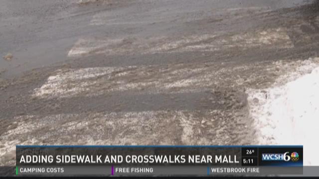 City of Bangor adding sidewalks and crosswalks near mall intersections