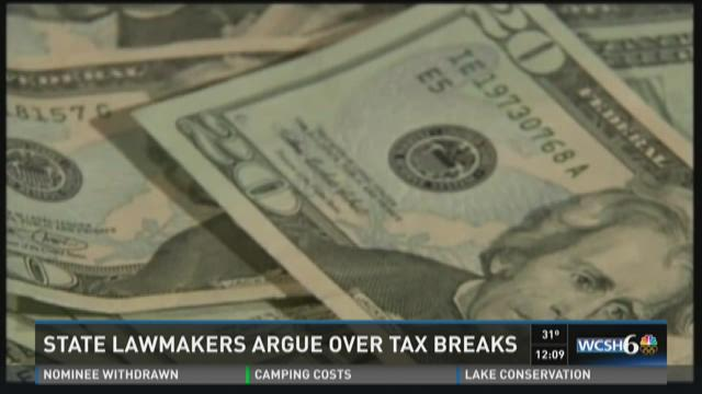 Maine lawmakers continue arguing over whether to extend tax breaks.