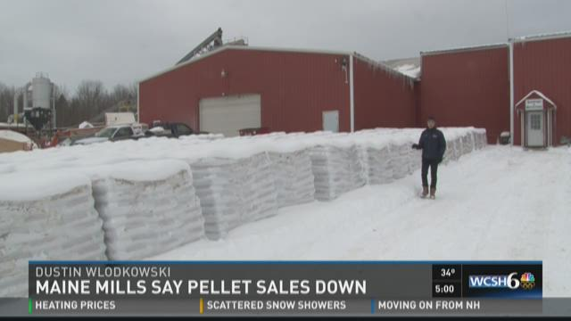 Pellet sales down in Maine mills