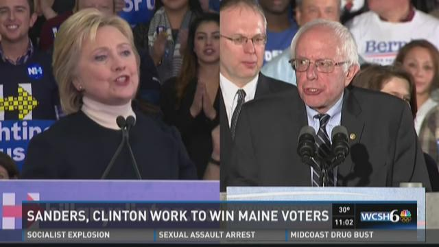 Sanders and Clinton get ready for Maine voters