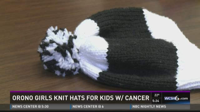 Orono field hockey players knitting hats for chemo therapy patients