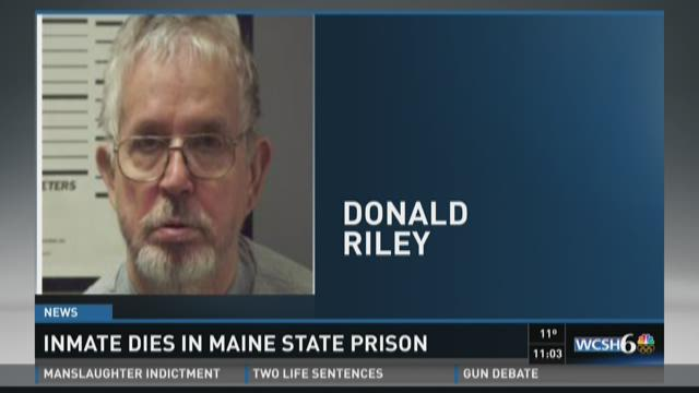 Maine State Prison inmate died this afternoon