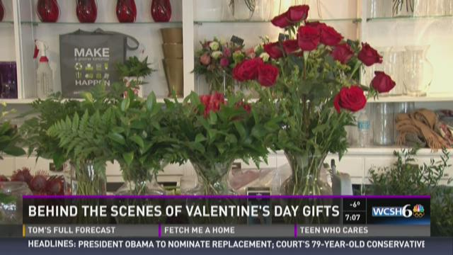Behind the scenes prep for Valentine's Day