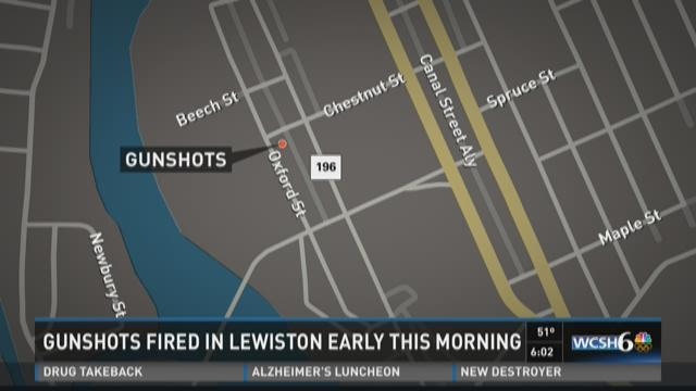 Gunshots fired in Lewiston early this morning