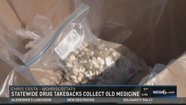 Maine police departments collect tons of expired meds