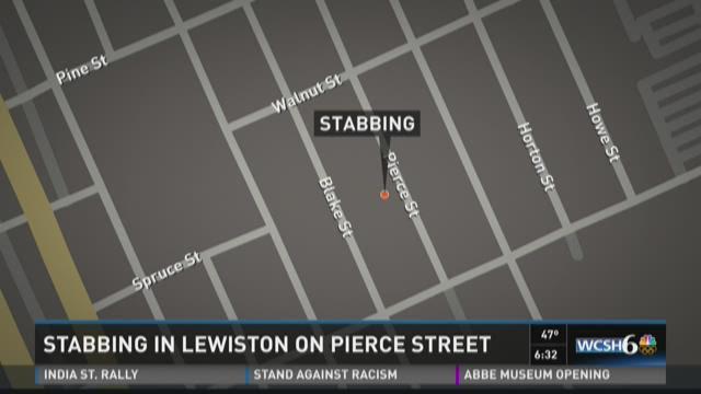 Stabbing in Lewiston on Pierce Street