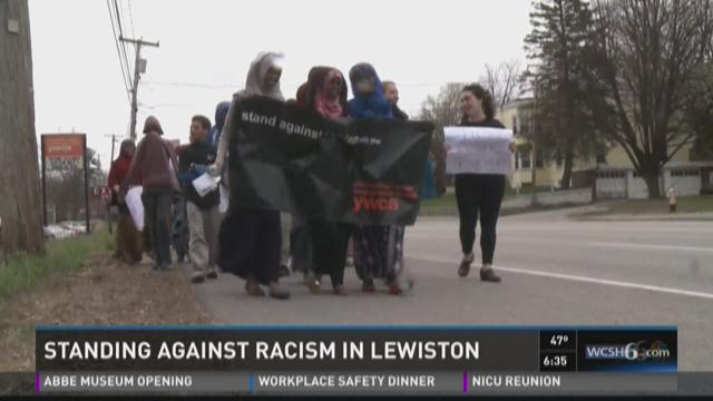 Standing against racism in Lewiston