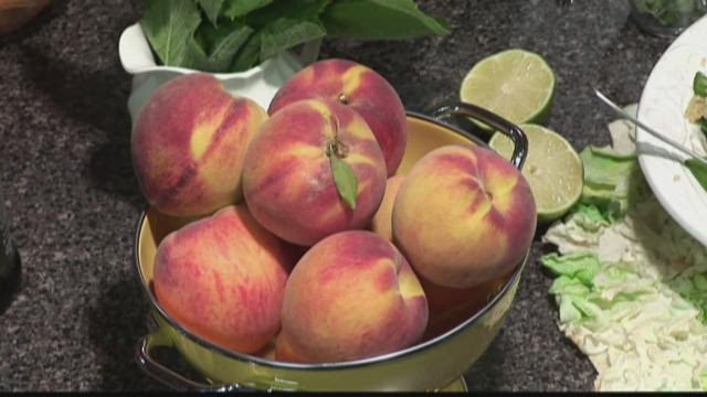 Soup and Salads with Peaches