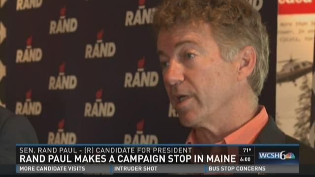 Rand Paul makes first campaign stop in Maine