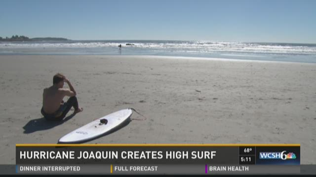 Hurricane Joaquin Creates High Surf
