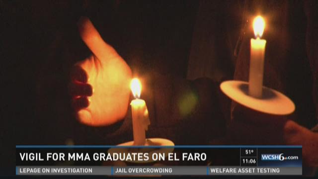 Vigil for MMA graduates on El Faro