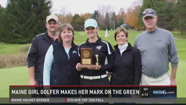 Maine girl golfer makes her mark on the green