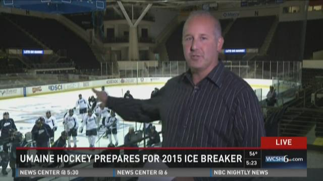 UMaine hockey prepares for 2015 Ice Breaker