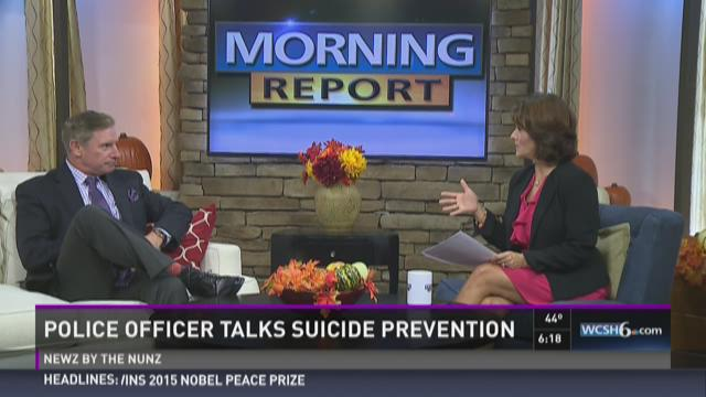 Police officer talks suicide prevention