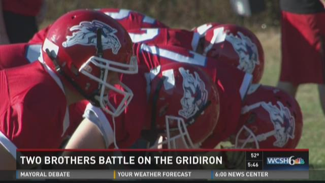 Two brothers battle on the gridiron