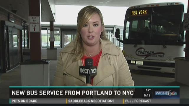 New bus service from Portland to NYC