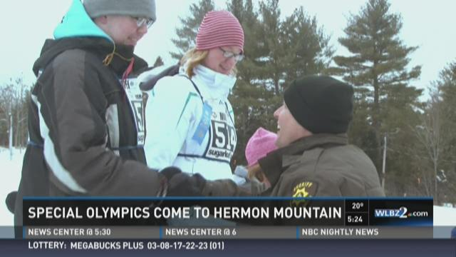 Winter version of Special Olympics hosted at Hermon Mountain