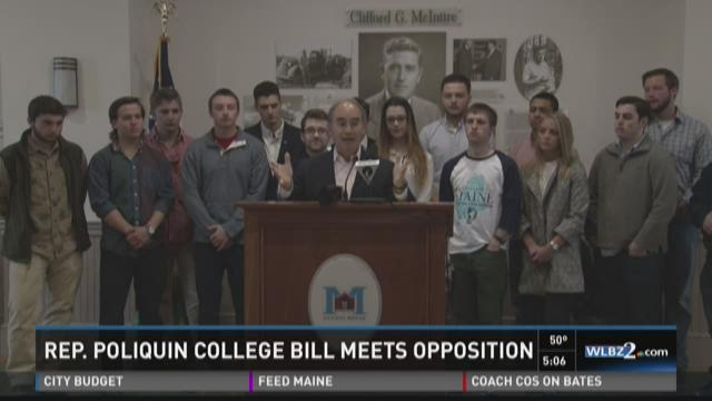 Rep. Poliquin college bill meets opposition (WLBZ)